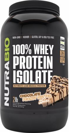 Image of 100% Whey Protein Isolate Chocolate Peanut Butter Bliss 2 Lbs. - Protein Powder NutraBio