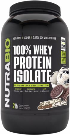 Image of 100% Whey Protein Isolate Ice Cream Cookie Dream 2 Lbs. - Protein Powder NutraBio