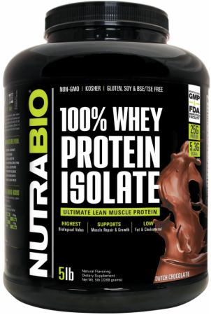 Image of 100% Whey Protein Isolate Dutch Chocolate 5 Lbs. - Protein Powder NutraBio