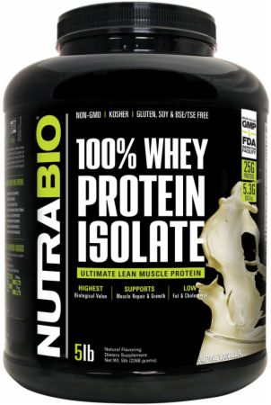 Image of 100% Whey Protein Isolate Alpine Vanilla 5 Lbs. - Protein Powder NutraBio