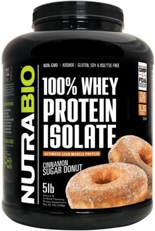 Image of 100% Whey Protein Isolate Cinnamon Sugar Donut 5 Lbs. - Protein Powder NutraBio