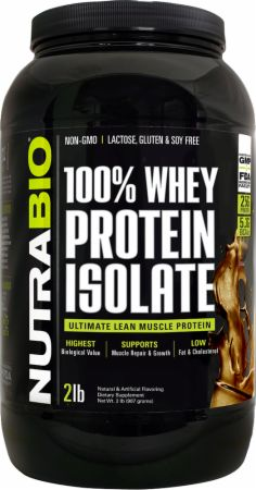 Image of 100% Whey Protein Isolate Dutch Chocolate 2 Lbs. - Protein Powder NutraBio