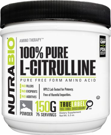 Image of 100% Pure L-Citrulline Unflavored 75 Servings - Nitric Oxide Boosters NutraBio