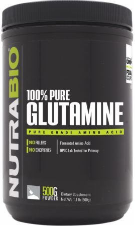 Image of 100% Pure Glutamine Unflavored 500 Grams - Post-Workout Recovery NutraBio