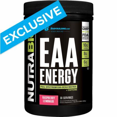 EAA Energy Raspberry Lemonade 30 Servings - Amino Acids & BCAAs NutraBio