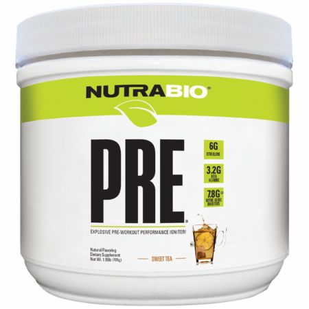 PRE Natural Sweet Tea 20 Servings - Pre-Workout Supplements NutraBio