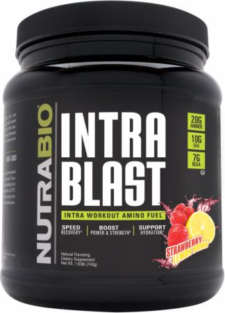 Image of Intra Blast Strawberry Lemon Bomb 30 Servings - During Workout NutraBio