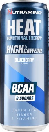 Image of Heat BCAA Blueberry 24 x 330 ml Cans - Energy Drinks Nutramino