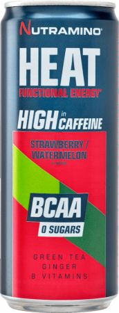 Image of Nutramino Heat BCAA 24 x 330 ml Cans Strawberry/Watermelon
