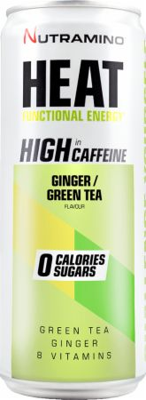 Image of Nutramino Heat 24 x 330 ml Cans Ginger/Green Tea