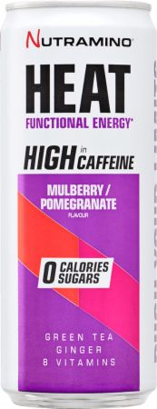 Image of Nutramino Heat 24 x 330 ml Cans Mulberry/Pomegranate
