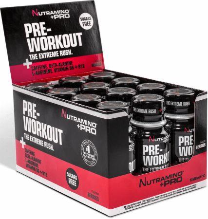 Image of Nutramino +Pro Pre-Workout Shot 12 x 60ml Shots Berries