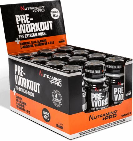 Image of Nutramino +Pro Pre-Workout Shot 12 x 60ml Shots Orange