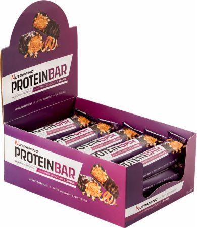 Image of Nutramino Protein Bar 15 x 47g Bars Dark Chocolate & Orange