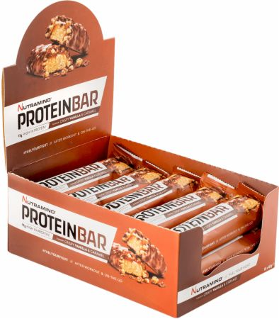 Image of Nutramino Protein Bar 15 x 40g Bars Crispy Vanilla & Caramel