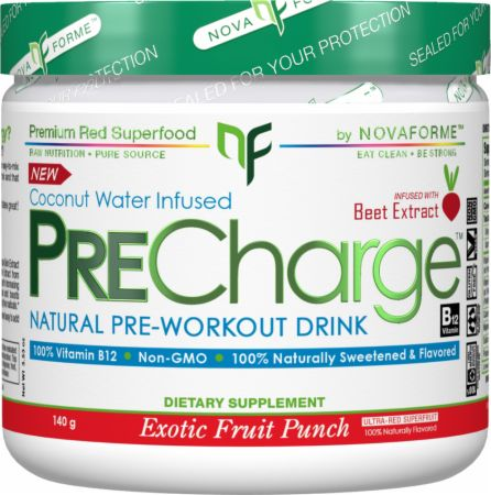 Nova Forme Pre Charge Exotic Fruit Punch 140 Grams - Pre-Workout Supplements