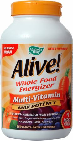 Image of Nature's Way Alive! - No Iron Added 180 Tablets