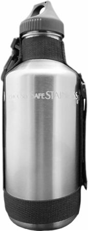 Image of New Wave Enviro Stainless Steel Bottle with Strap 40 Oz.