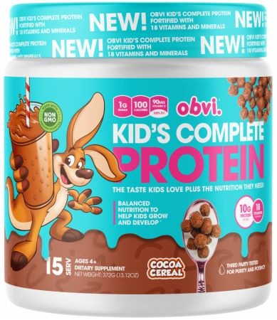 Image of Kid's Complete Protein Cocoa Cereal 15 Servings - Protein Powder Obvi