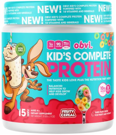 Image of Kid's Complete Protein Fruity Cereal 15 Servings - Protein Powder Obvi