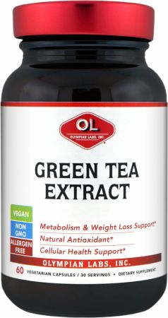 Image of Olympian Labs Green Tea Extract 60 Vegetarian Capsules