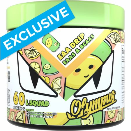 Image of EAA Drip EAAs & BCAAs Lemon Lime 60 Servings - Amino Acids & BCAAs Olympus Lyfestyle