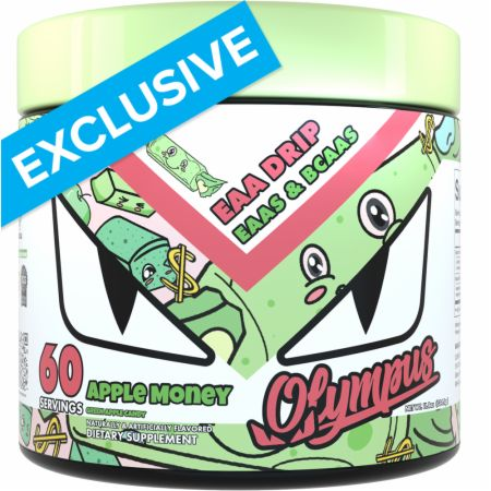 Image of EAA Drip EAAs & BCAAs Green Apple Candy 60 Servings - Amino Acids & BCAAs Olympus Lyfestyle