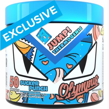 Image of Jump! Thermogenic Sour Blue Raspberry Candy 50 Servings - Fat Burners Olympus Lyfestyle