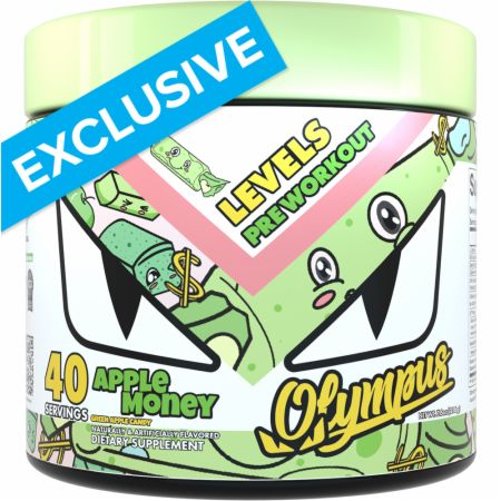 Image of Levels Pre Workout Apple Money Green Apple Candy 40 Servings - Pre-Workout Olympus Lyfestyle