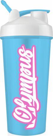 Image of Logo Shaker Bottle Blue and Pink 20 Oz. - Shaker Bottles Olympus Lyfestyle