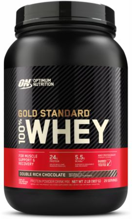 Optimum Nutrition Gold Standard 100% Whey Double Rich Chocolate 2 Lbs. - Protein Powder