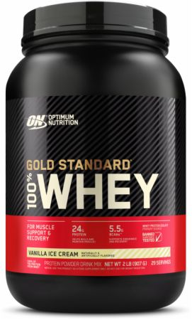 Optimum Nutrition Gold Standard 100% Whey Vanilla Ice Cream 2 Lbs. - Protein Powder