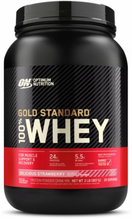 Optimum Nutrition Gold Standard 100% Whey Delicious Strawberry 2 Lbs. - Protein Powder