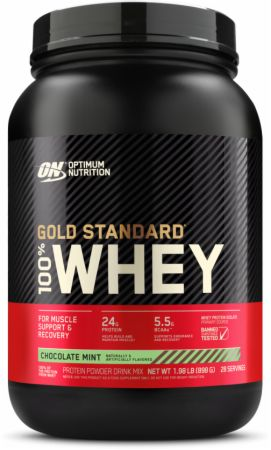 Optimum Nutrition Gold Standard 100% Whey Chocolate Mint 2 Lbs. - Protein Powder
