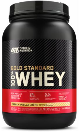 Optimum Nutrition Gold Standard 100% Whey French Vanilla Creme 2 Lbs. - Protein Powder