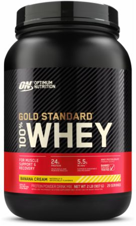 Optimum Nutrition Gold Standard 100% Whey Banana Cream 2 Lbs. - Protein Powder