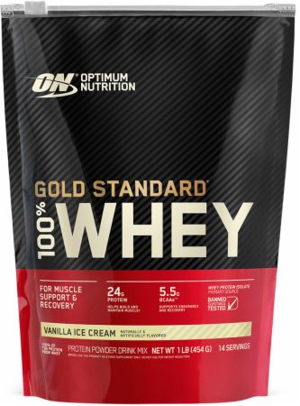 Optimum Nutrition Gold Standard 100% Whey Vanilla Ice Cream 1 Lb. - Protein Powder