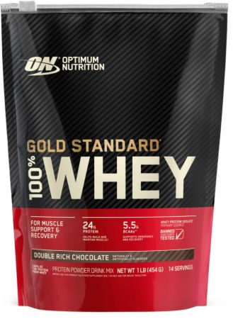 Optimum Nutrition Gold Standard 100% Whey Double Rich Chocolate 1 Lb. - Protein Powder