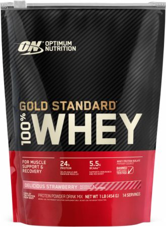Optimum Nutrition Gold Standard 100% Whey Delicious Strawberry 1 Lb. - Protein Powder