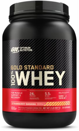 Optimum Nutrition Gold Standard 100% Whey Strawberry Banana 2 Lbs....