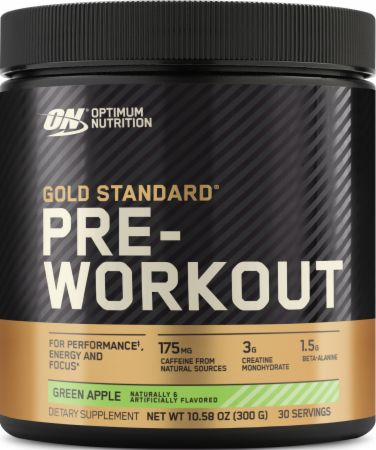 Optimum Nutrition Gold Standard Pre-Workout Green Apple 30 Servings - Pre-Workout Supplements