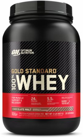 Optimum Nutrition Gold Standard 100% Whey Chocolate Malt 2 Lbs. - Protein Powder