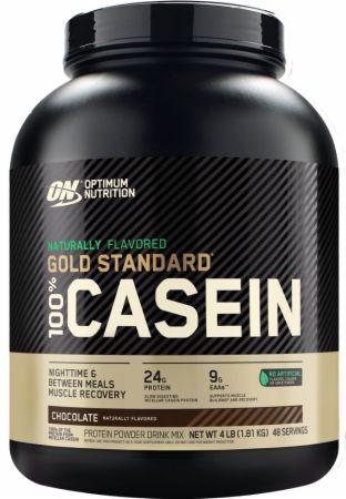 Gold Standard 100% Casein Chocolate Creme 4 Lbs. - Natural - Protein Powder Optimum Nutrition