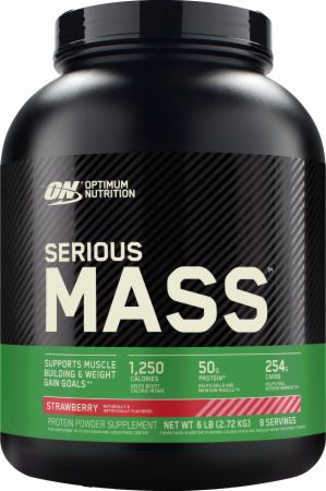 Optimum Nutrition Serious Mass Strawberry 6 Lbs. - Weight Gainers