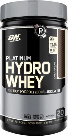 Optimum Nutrition Platinum Hydrowhey Turbo Chocolate 1.75 Lbs. - Protein...