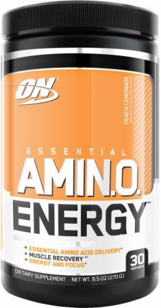 Image of Essential AmiN.O. Energy Peach Lemonade 30 Servings - Post-Workout Recovery Optimum Nutrition