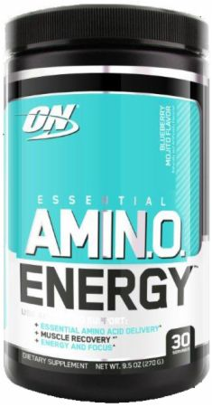 Image of Essential AmiN.O. Energy Blueberry Mojito 30 Servings - Post-Workout Recovery Optimum Nutrition
