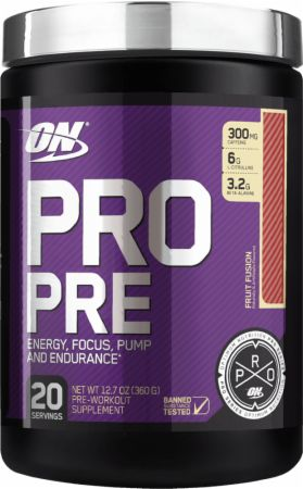 Pro Pre Fruit Fusion 20 Servings - Pre-Workout Supplements Optimum Nutrition