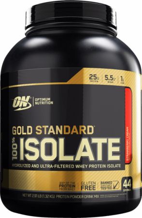 Gold Standard 100% Isolate Strawberry Cream 2.91 Lbs. - Protein Powder Optimum Nutrition