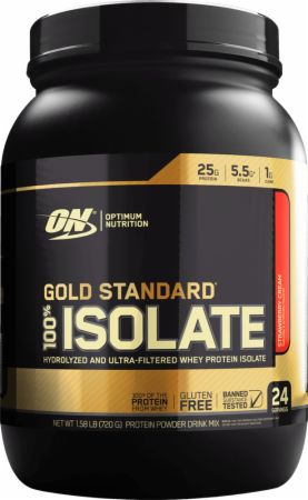 Gold Standard 100% Isolate Strawberry Cream 1.58 Lbs. - Protein Powder Optimum Nutrition
